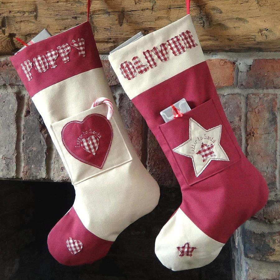 Personalised Letter To Santa Stocking | Santa stocking, Stockings ...