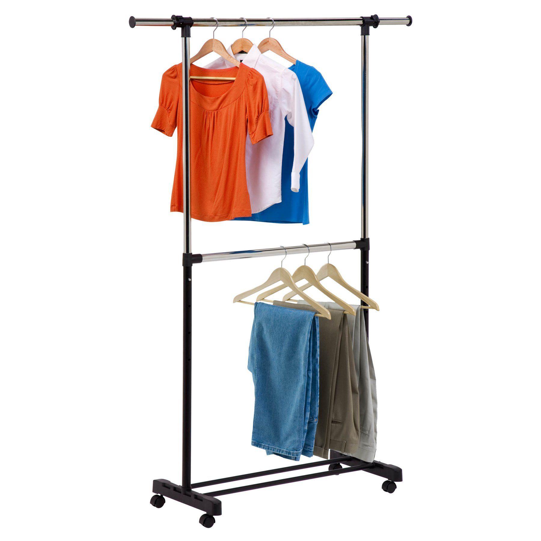 Honey can do double bar garment rack gar garment racks and
