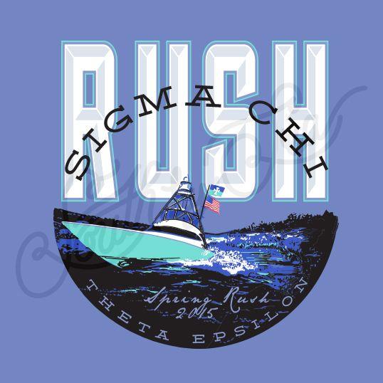 8c861b171 Rush Tee Shirt Ideas | Sigma Chi | Sig Chi | Theta Epsilon | Boating Tee  Shirt…