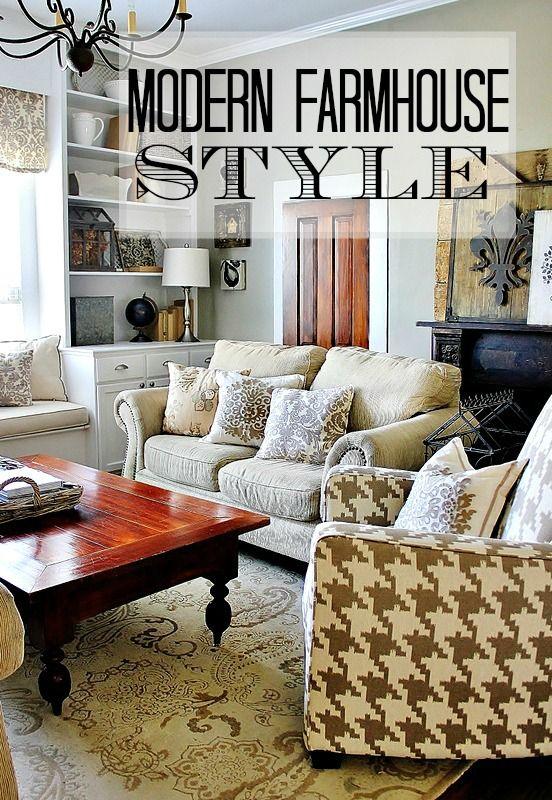 Room · get the look modern farmhouse