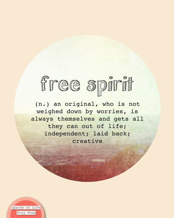 Free spirit quote Free spirit definition dictionary quote