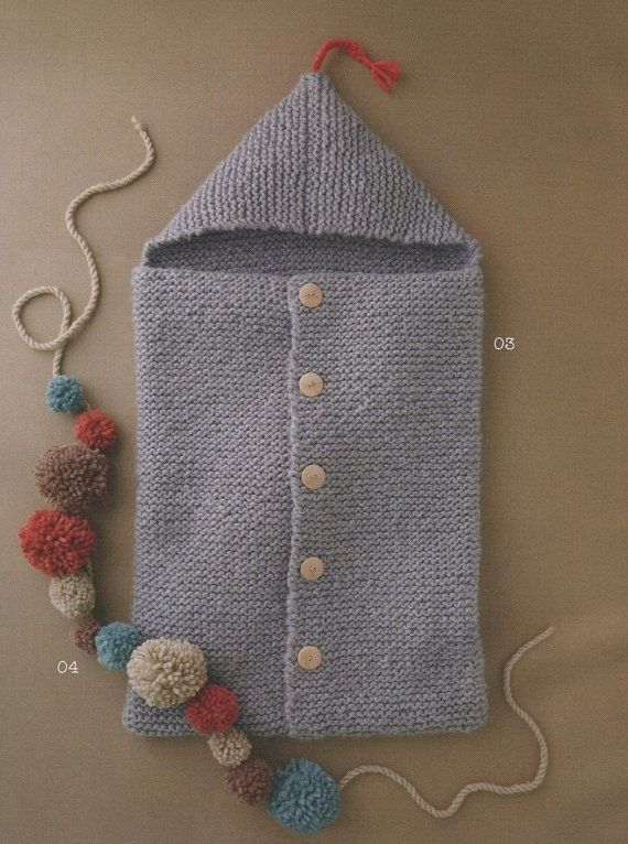 ENGLISH Super Easy Baby Sleeping Bag Knitting by AliceInCraftyland: