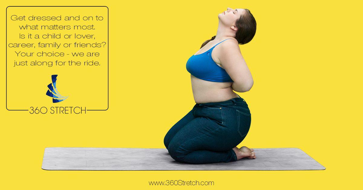 Curvy Yoga Instructor Dana Falsetti demonstrating the ...
