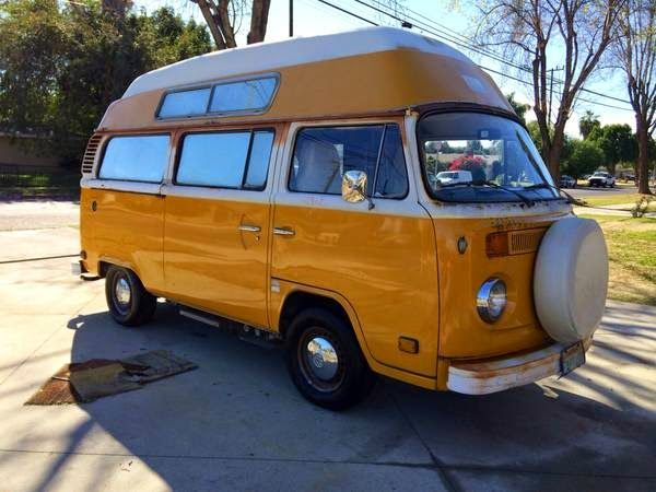Used Rvs 1976 Volkswagen T2 High Top Campervan By Owner Vw Bus Camper Volkswagen Vw Bus T2
