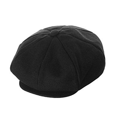9d89e8c7b8 WITHMOONS Wool Blend Baker Boy Flat Cap Monochrome Beret IVY Hat ...