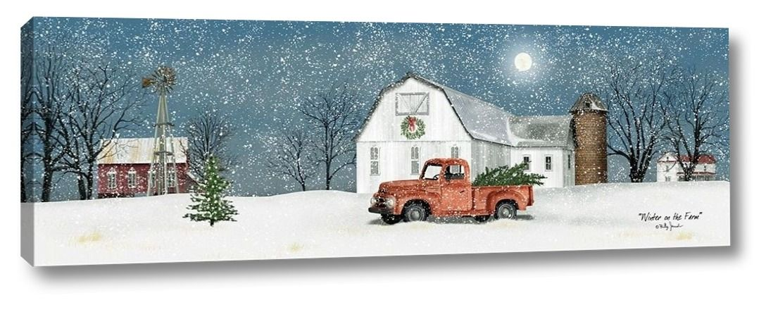 Winter on the Farm in 2020 Christmas paintings