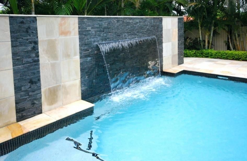 Modern Waterfall Pool Luxury Interior Design And Modern Swimming Pool With Waterfall And Garden Pool Pool Waterfall Pool Water Features Swimming Pool Waterfall