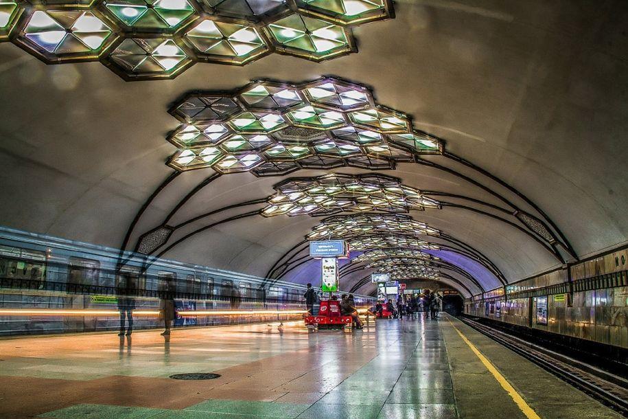 Метро Ташкента (с изображениями) | Старые фото, Станция ...