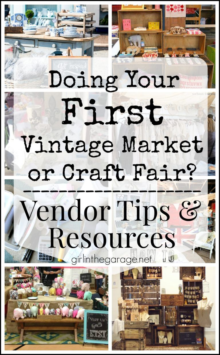 Doing Your First Vintage Market or Craft Fair? {Vendor Tips & Resources #craftfairs