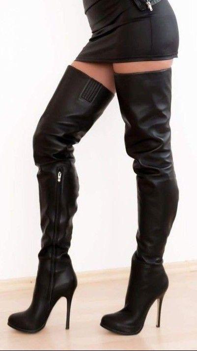 botas de cuero negras mujer  aa0606049fd14