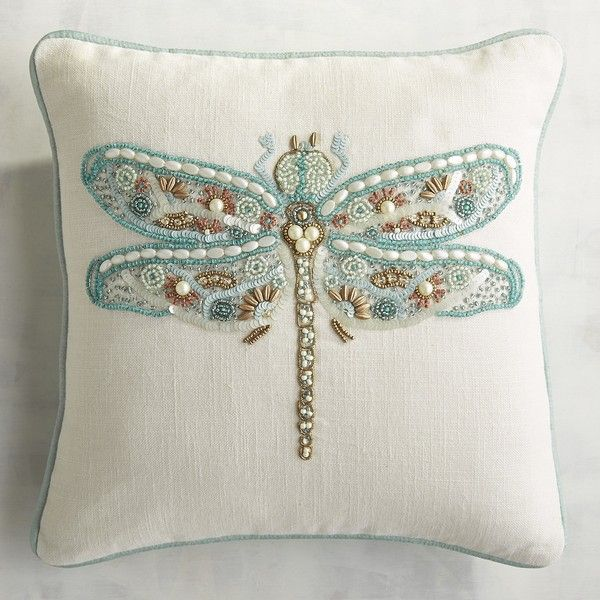 Pier 1 Imports Lovely Beaded Dragonfly Pillow 24 Liked On