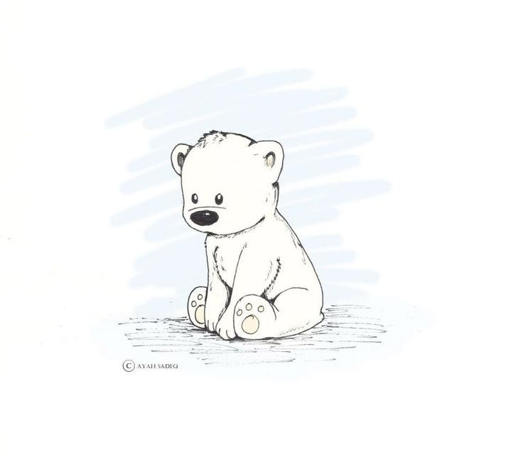 Cute Penguin Illustration Google Search Polar Bear Drawing Cute Bear Drawings Bear Drawing