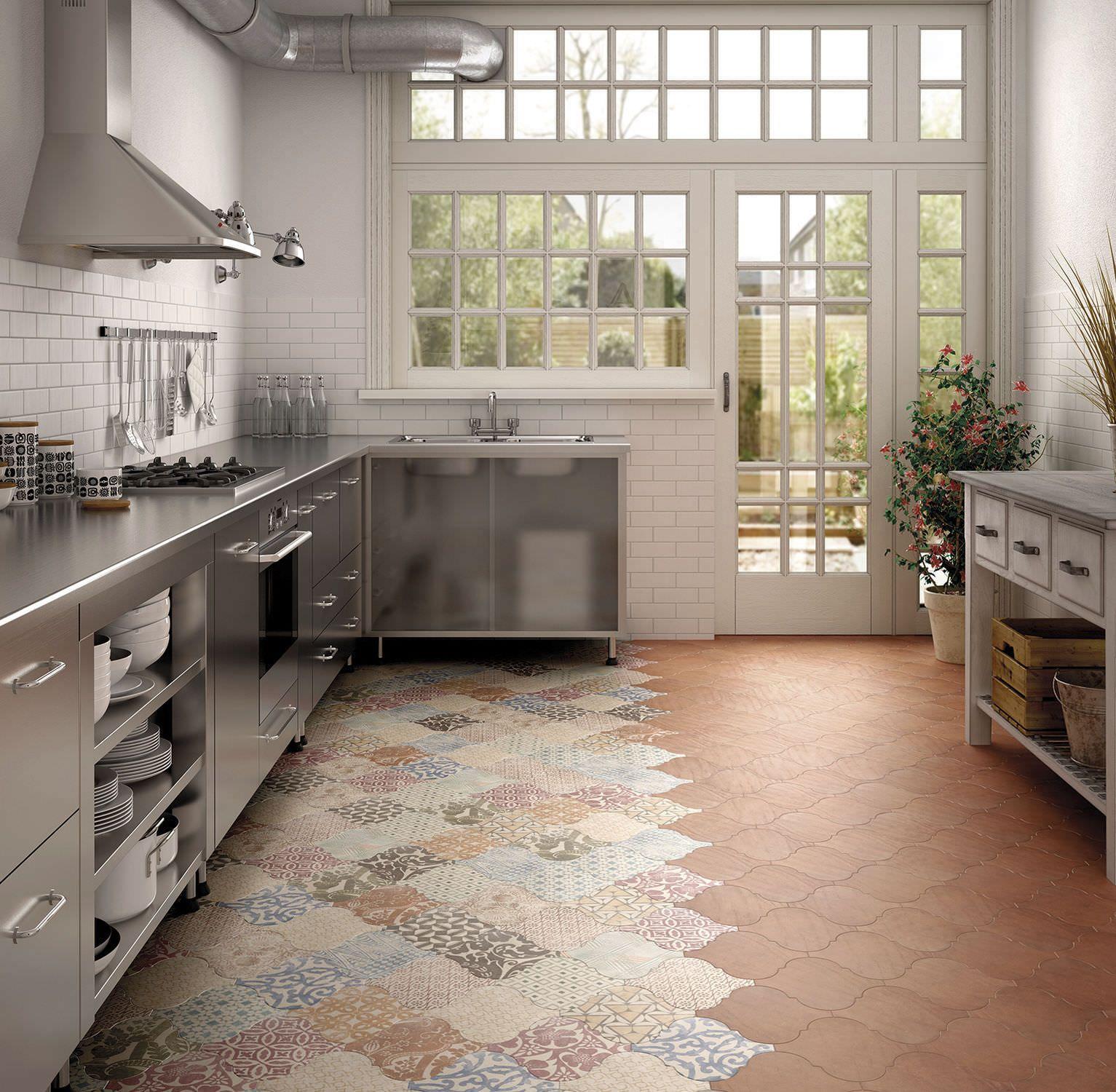 Colorare Pavimento In Cotto stencil per cucina moderna