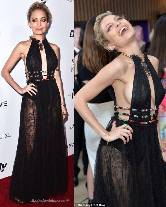 Vestido transparente Nicole Richie da grife Valentino no red carpet do  Fashion Los Angeles Awards 2016 66da76acfb