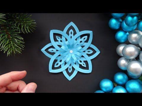 Weihnachtsdeko selber machen: Sterne basteln mit Papier - DIY Schneeflocken - YouTube #floconsdeneigeenpapier
