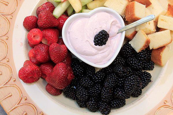 Raspberry Lemon Fruit Dip for @Jen Schall's Virtual Baby Shower  www.bluebonnetsandbrownies.com