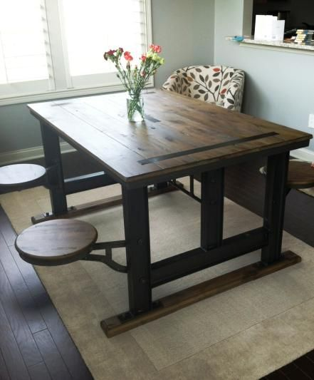 Galvin Cafeteria Table Cafeteria Table Wooden Dining Table