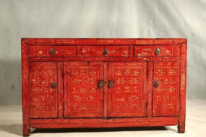 Credenza Rustica Antica : Antica credenza cinese con ante e cassetti proveniente dal dongbei
