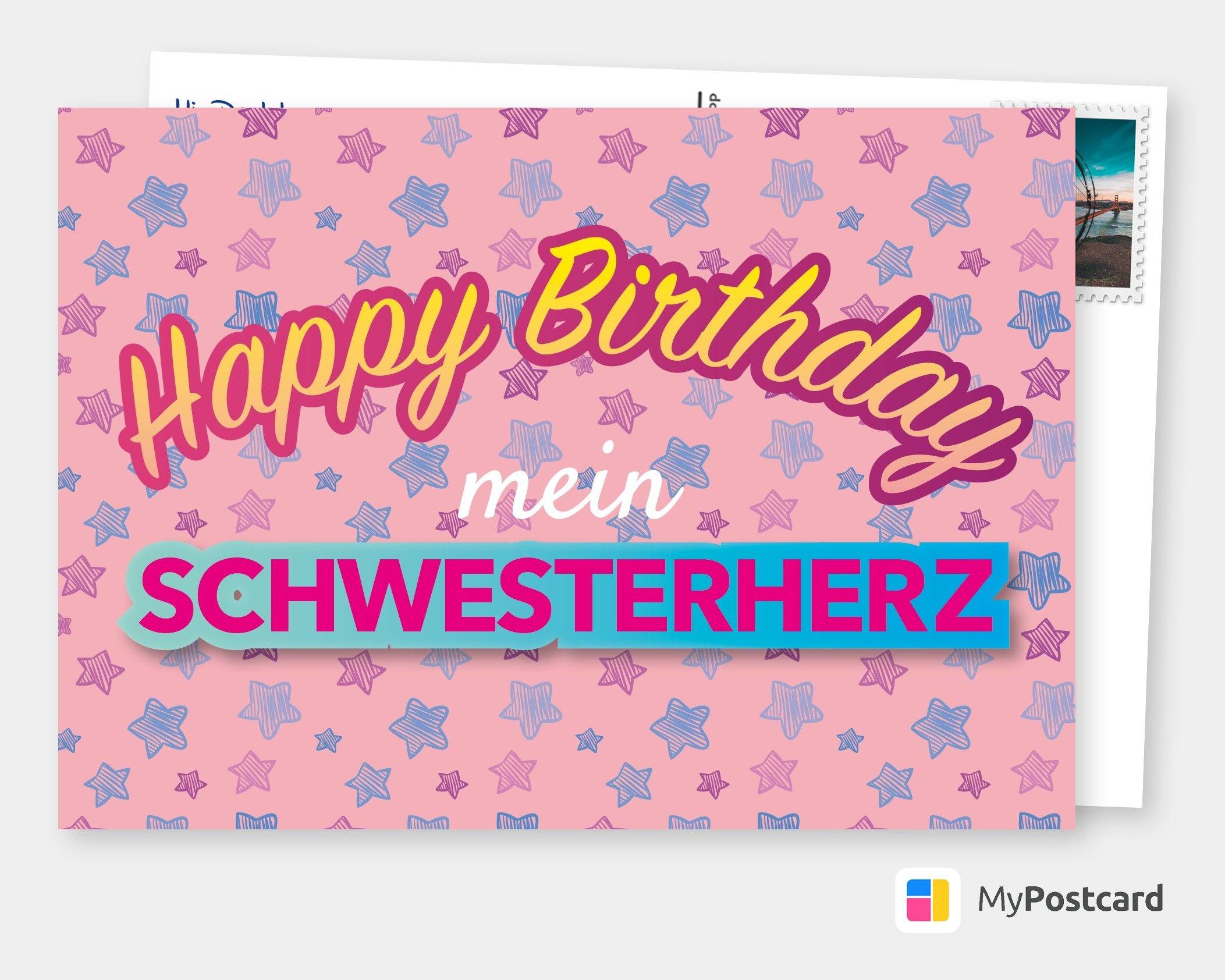 Mein Schwesterherz Geburtstagskarten Spruche Echte