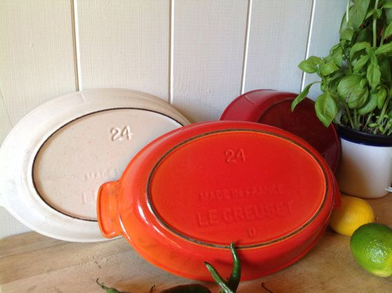 Vintage Le Creuset Gratin dish with scalloped by Onmykitchentable ...