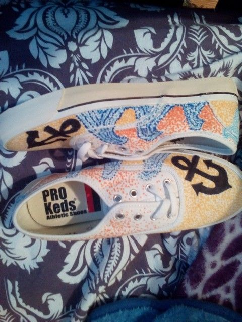 Personalized shoes done by yours truly! #shoes #personalized #fashion