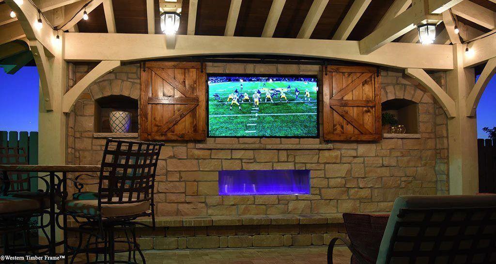 Slider Habertson Cabana Tv Diy Outdoor Fireplace Diy