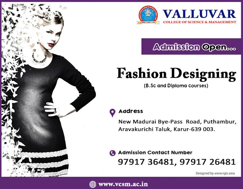 Best College In Karur Admission Going On For Bsc Fashion Technology And Costume Designing With Sem Fees Of Rs 11 000 Technology Fashion College Fun Admissions