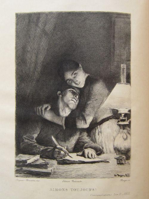 """dekehlmark:  Pascal Adolphe Dagnan-Bouveret (1852-1929), Aimons toujours ! Aimons encore !, Illustration pour """"Les Contemplations"""" de Victor Hugo - vers 1886"""