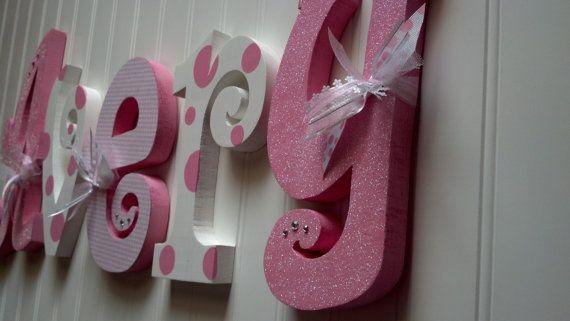 Nursery Letters Wall Hanging By Beautifulbabyofmine