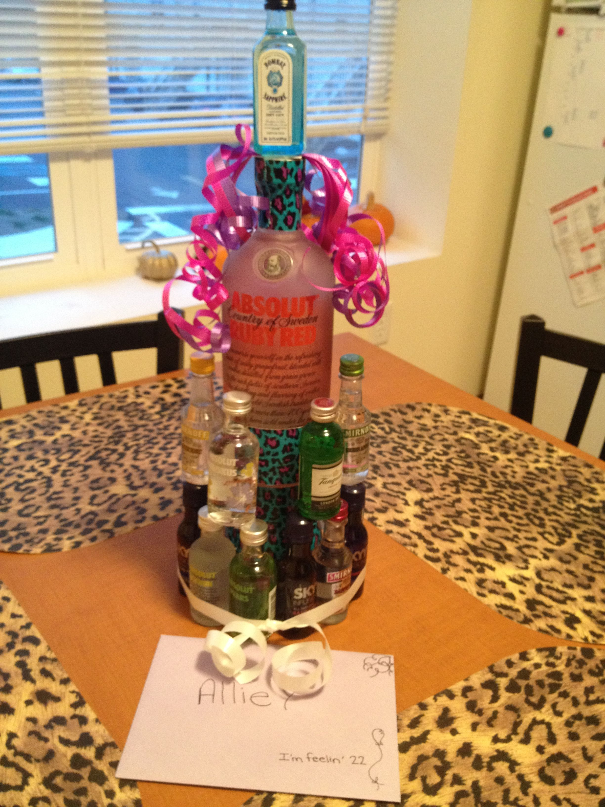 Alcohol Nipper Cake For A Friends Birthday We Did This Her 22nd But It Would Definitely Be Great 21st Gift