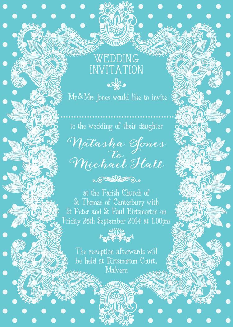 Mint blue wedding stationery. Bright, vibrant ice blue wedding ...