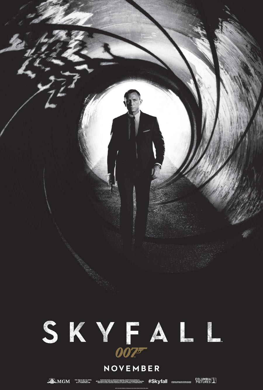 James bonds skyfall poster i would even put it in a large ornate frame and let my guy hang it in our bedroom so thats the first thing he would see