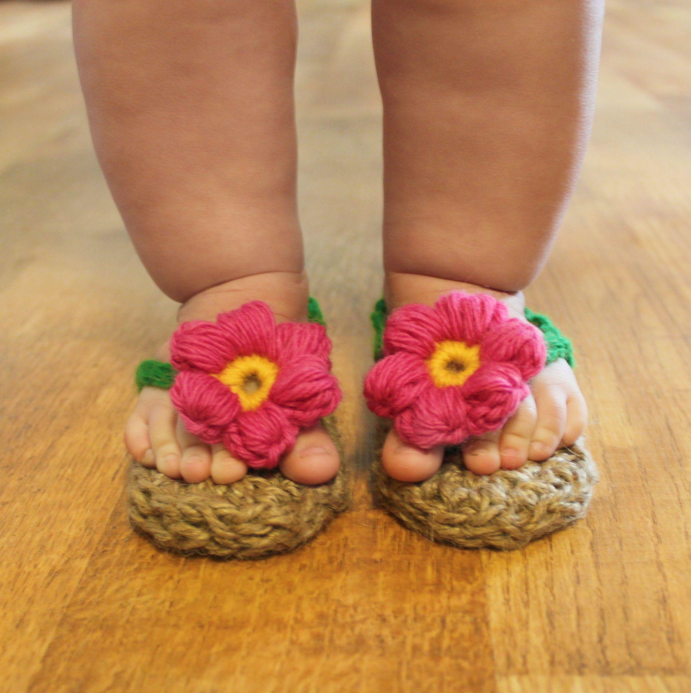 jute sunshine sandal pattern by @Tara Harmon Murray (Mamachee)