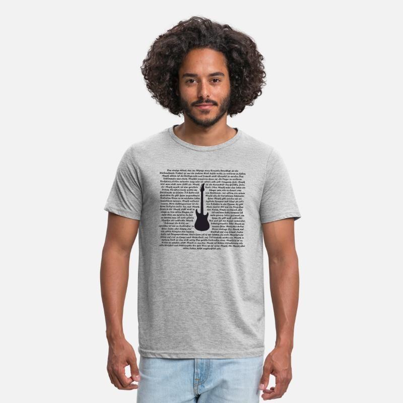 Musik Sprüche – Gitarre Männer Polycotton T-Shirt – Grau meliert