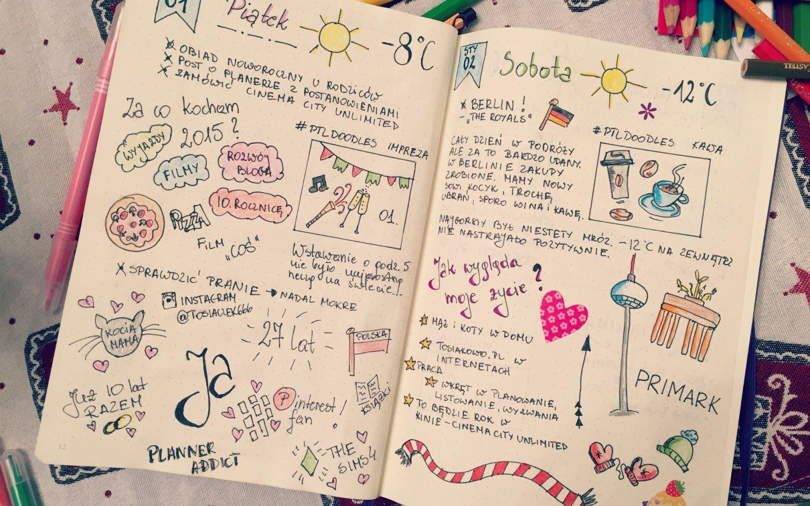 Tosiakowo | grafika, planowanie, szczęście: Moje kreatywne planowanie, czyli pierwszy tydzień z #bulletjournal