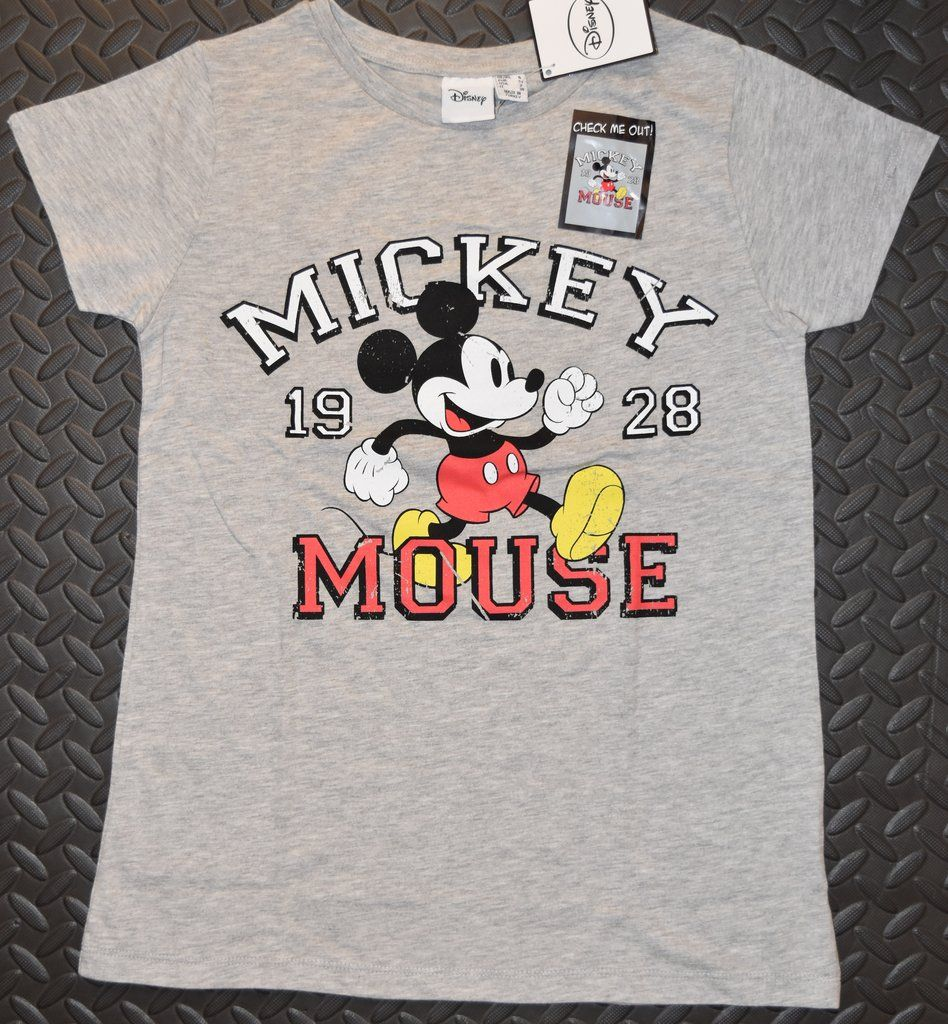 448868a1 Primark Mickey Mouse T Shirt Classic Disney Womens Ladies 1928 UK Sizes  4-20 NEW