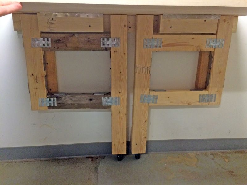 Cutting The Cable Easy To Build Folding Workbench Wood