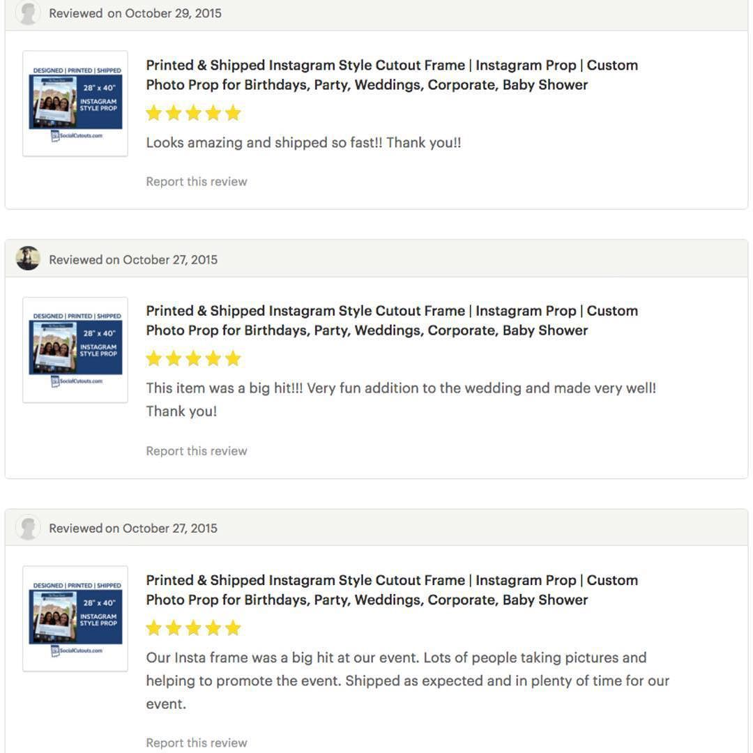 Thank You For The Great Reviews And Thank You To All Our Past