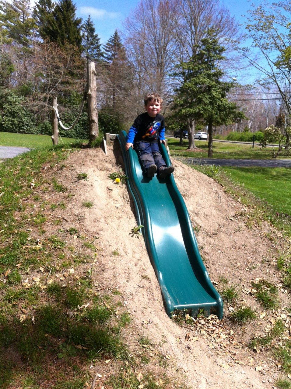 Awesome Slide Built Into A Hill Diy Playground