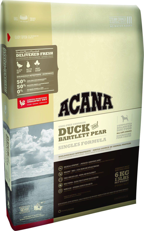 Acana duck bartlett pear singles formula dry dog food