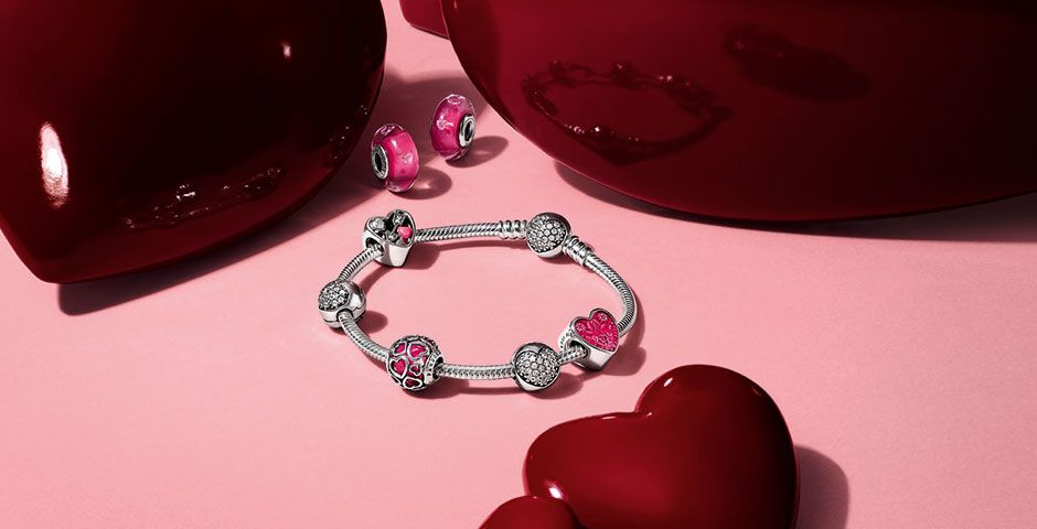 celebrate your valentines moments with pandora and knight jewellers the new collection is now in store - Pandora Valentines