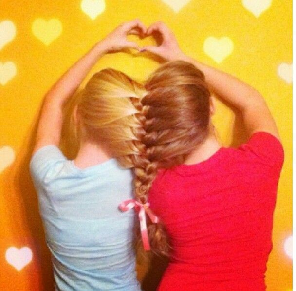 Strange So Cute Great Best Friend Photo French Braid Heart Picture Hairstyle Inspiration Daily Dogsangcom