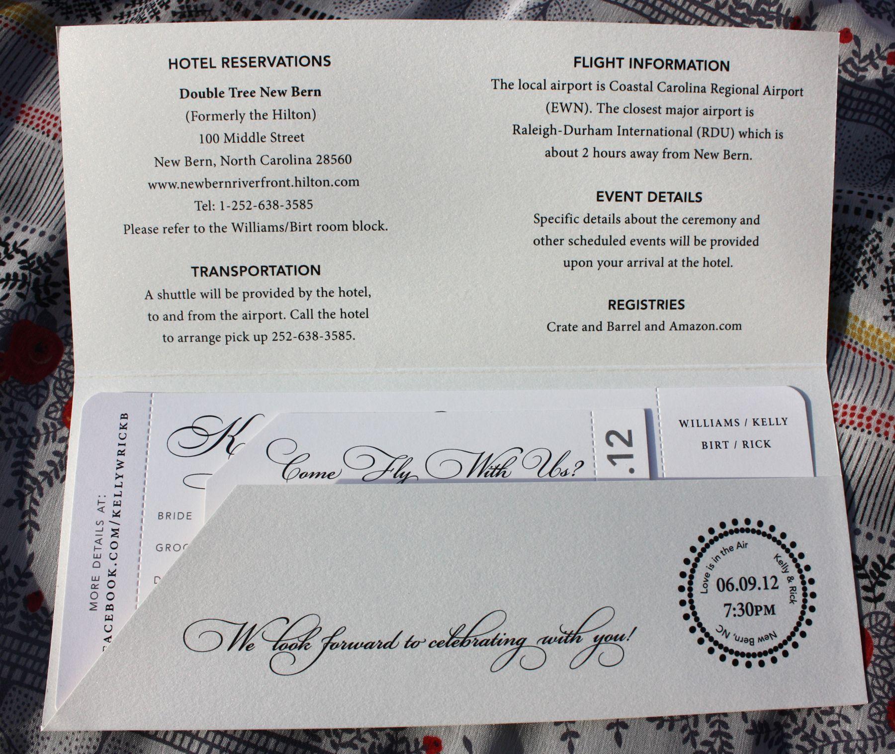 click - Airline Ticket « emDOTzee Designs Blog   Wedding Invitations ...