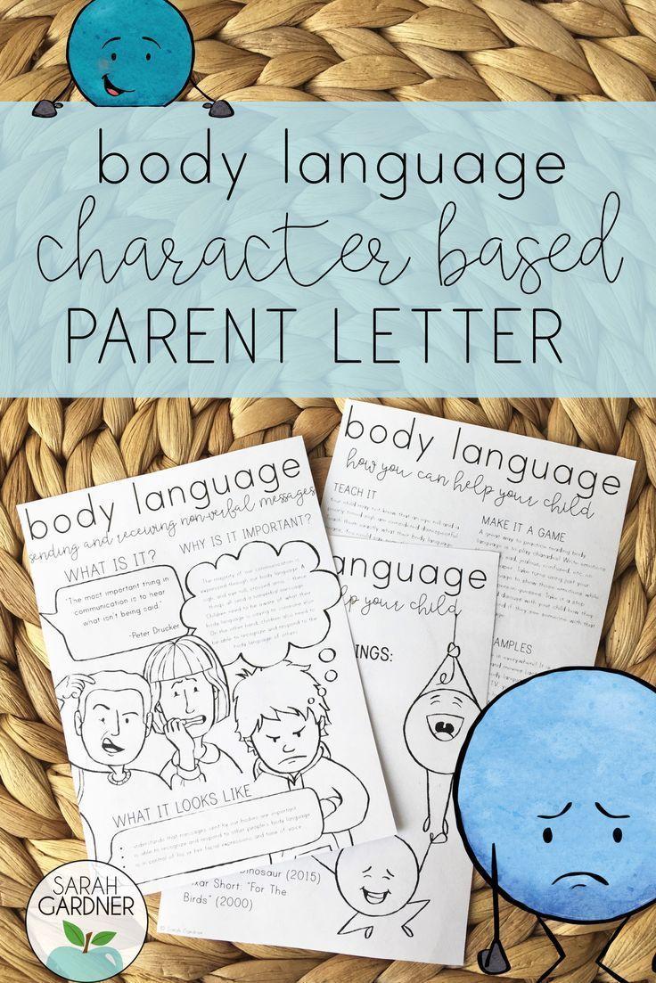 Body Language Parent Letter Letter to parents, Body