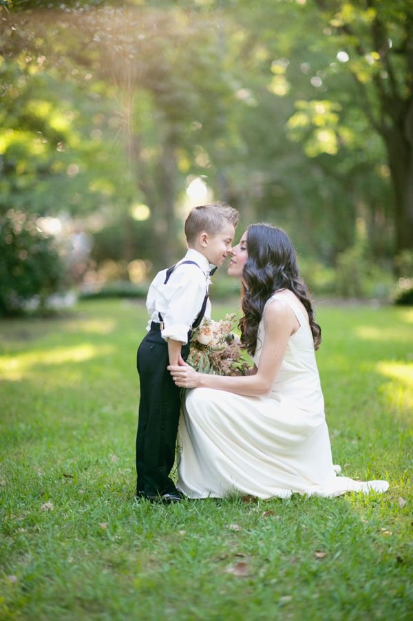 Ring Bearer and Bride Such a cute shot Wedding Photography