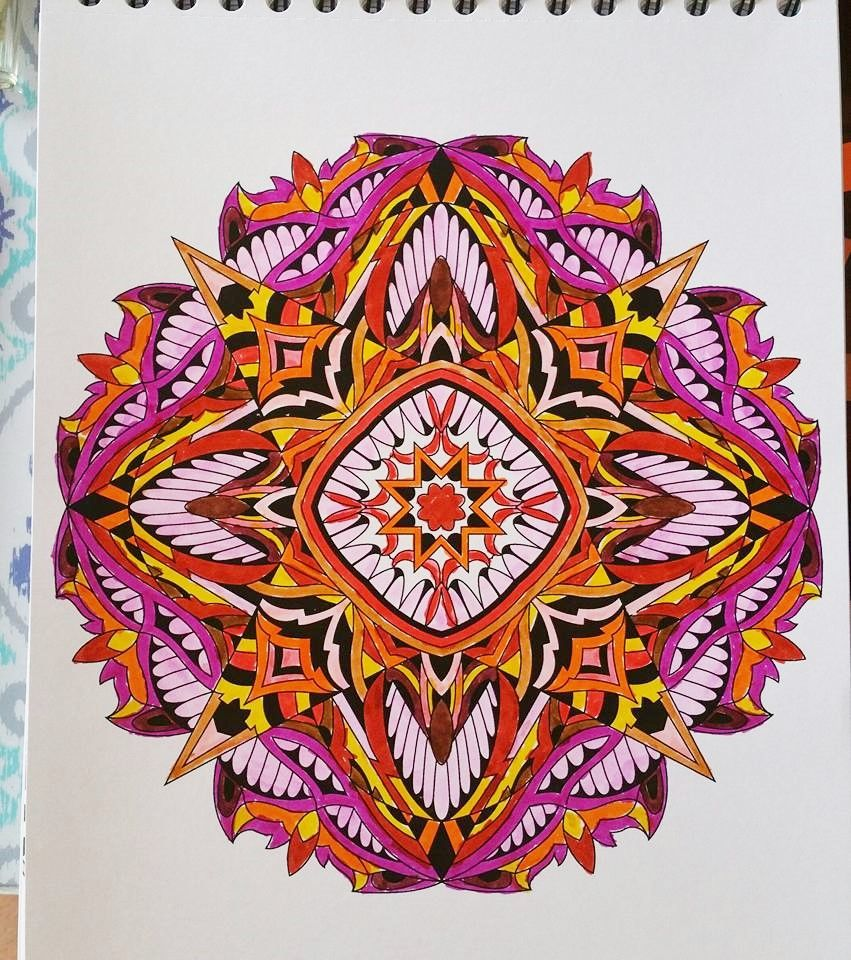 ColorIt Mandalas to Color Volume 1 Colorist: Linda Noyola #adultcoloring #coloringforadults #mandalas #mandalacoloringpages