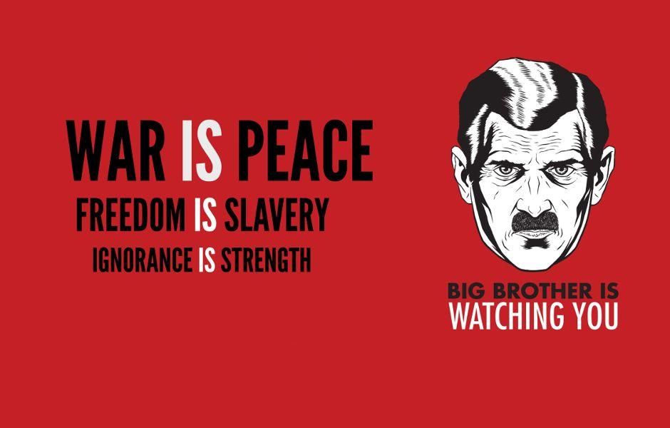 Resultado de imagem para 1984 war is peace | Imagems