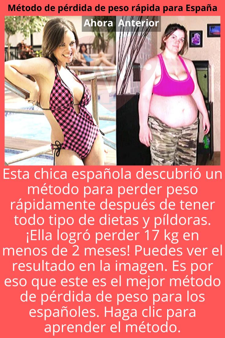 Método De Pérdida De Peso Fácil Y Rápido Para España Dietas Para Adelgazar Perder Peso Pérdida De Peso