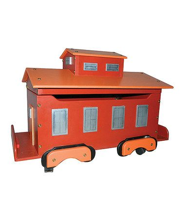 Take A Look At This Orange Train Caboose Toy Chest By Just