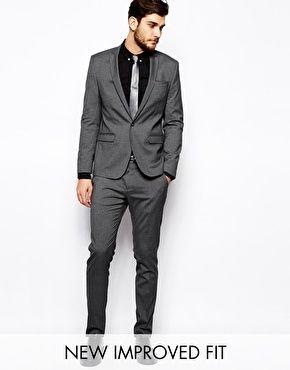 ASOS Skinny Fit Suit In Charcoal | WEDDING SUIT | Pinterest ...